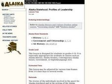 Alaska Statehood: Profiles of Leadership Lesson Plan