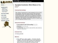 The Alaska Constitution: What It Means to You Lesson Plan