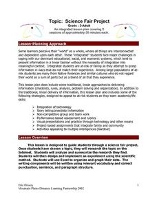Topic:  Science Fair Project Lesson Plan