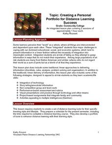 Creating A Personal Portfolio For Distance Learning Lesson Plan