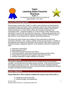 Learning Styles Personal Brochure Lesson Plan