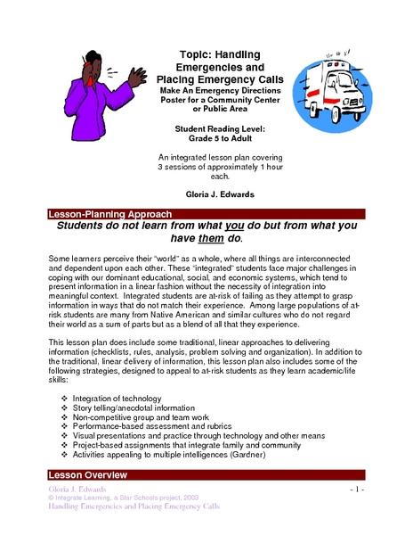 Handling Emergencies and Placing Emergency Calls Lesson Plan