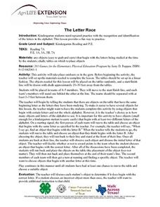 The Letter Race Lesson Plan