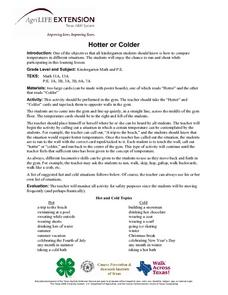 Hotter or Colder Lesson Plan