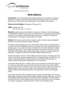 Write Stations Lesson Plan