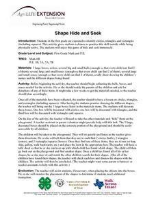 Shape Hide and Seek Lesson Plan