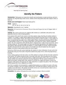 Identify the Pattern Lesson Plan