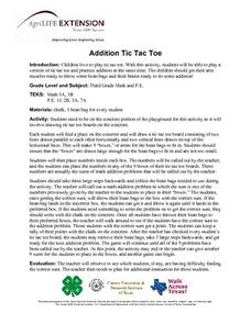 Addition Tic Tac Toe Lesson Plan
