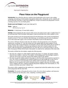 Place Value on the Playground Lesson Plan