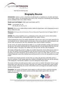 Biography Bounce Lesson Plan