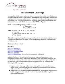 One Week Challenge Lesson Plan