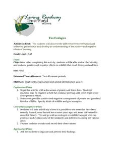 Fire Ecologies Lesson Plan