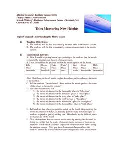 Measuring New Heights Lesson Plan