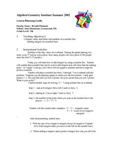 Order Numbers On a Number Line Lesson Plan