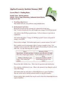 Finding Rates Lesson Plan