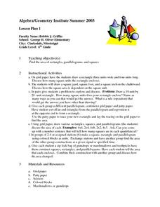 Teaching Area Lesson Plan