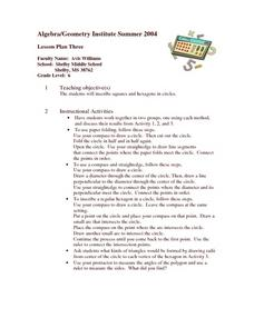 Inscribing Squares and Hexagons Lesson Plan