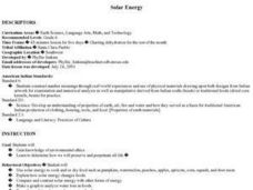 Solar Energy - Dehydration Lesson Plan