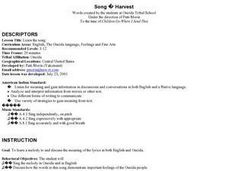 Music ; Oneida Harvest Song Lesson Plan