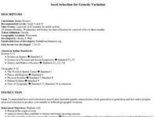 Seed Selection for Genetic Variation Lesson Plan
