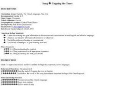 Tapping the Trees-Traditional Oneida Song Lesson Plan