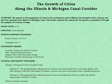 The Growth of Cities Along the Illinois and Michigan Canal Corridor Lesson Plan