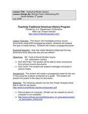 Analyzing Media Literacy Lesson Plan