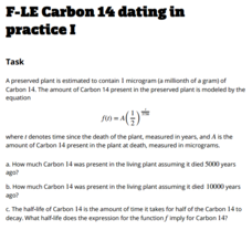 Carbon dating activity worksheet answers