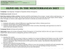 Olive Oil In The Mediterranian Diet Lesson Plan