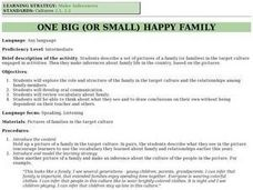 One Big Happy Family Lesson Plan