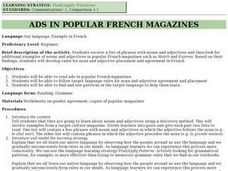 Ads In Popular French Magazines Lesson Plan
