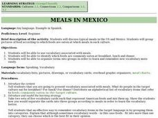 Meals in Mexico Lesson Plan
