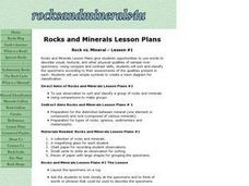 Rock vs. Mineral - Lesson #1 Lesson Plan