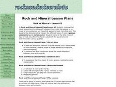 Rock vs. Mineral - Lesson #2 Lesson Plan