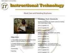 iBook Care and Handling Brochures Lesson Plan
