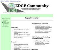 Pages Newsletter Lesson Plan
