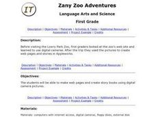 Zany Zoo Adventures Lesson Plan