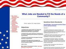 What Jobs are Needed to Fill the Needs of a Community? Lesson Plan