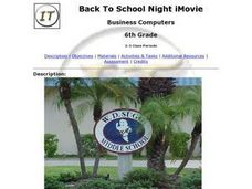 Back To School Night iMovie Lesson Plan