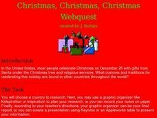 Christmas, Christmas, Christmas Webquest Lesson Plan