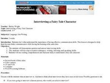 Interviewing a Fairy Tale Character Lesson Plan