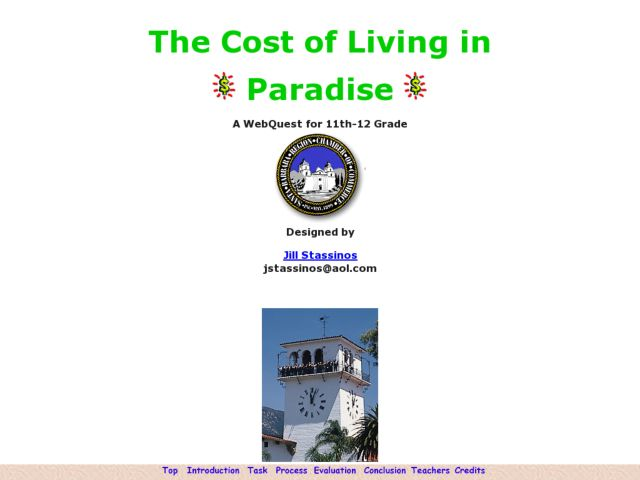 Social Studies: The Cost of Living in Paradise Lesson Plan