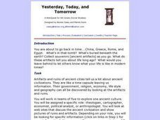 social Studies: Yesterday, Today, and Tomorow Lesson Plan
