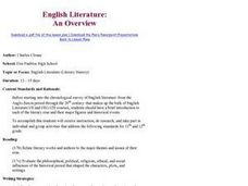 English Literature: An Overview Lesson Plan