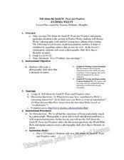 EUDORA WELTY Lesson Plan