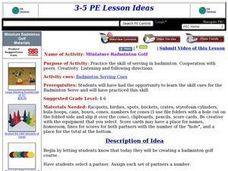 Miniature Badminton Golf Lesson Plan