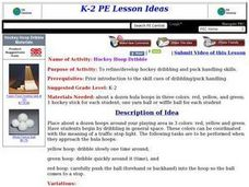 Hockey Hoop Dribble Lesson Plan