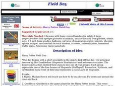 Harry Potter Field Day Lesson Plan