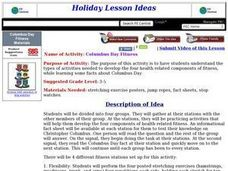 Columbus Day Fitness Lesson Plan