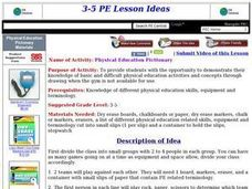 Physical Education Pictionary Lesson Plan